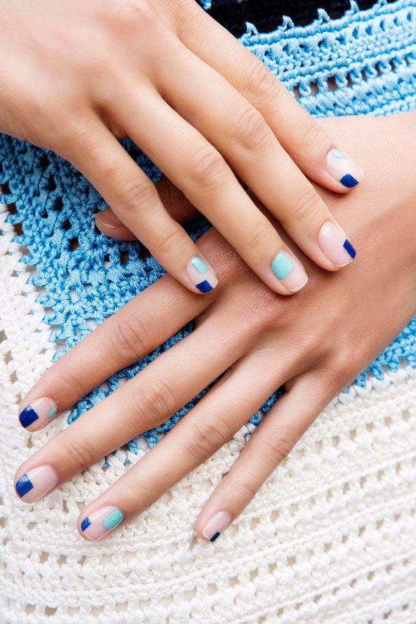 Mariage - Blue Nail Art