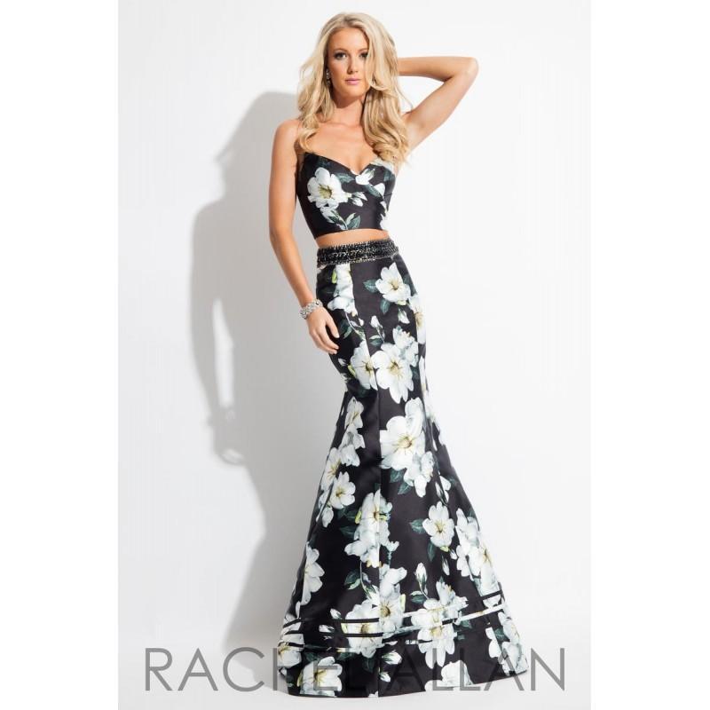 Mariage - Rachel Allan Prom 7604 Black,White Dress - The Unique Prom Store