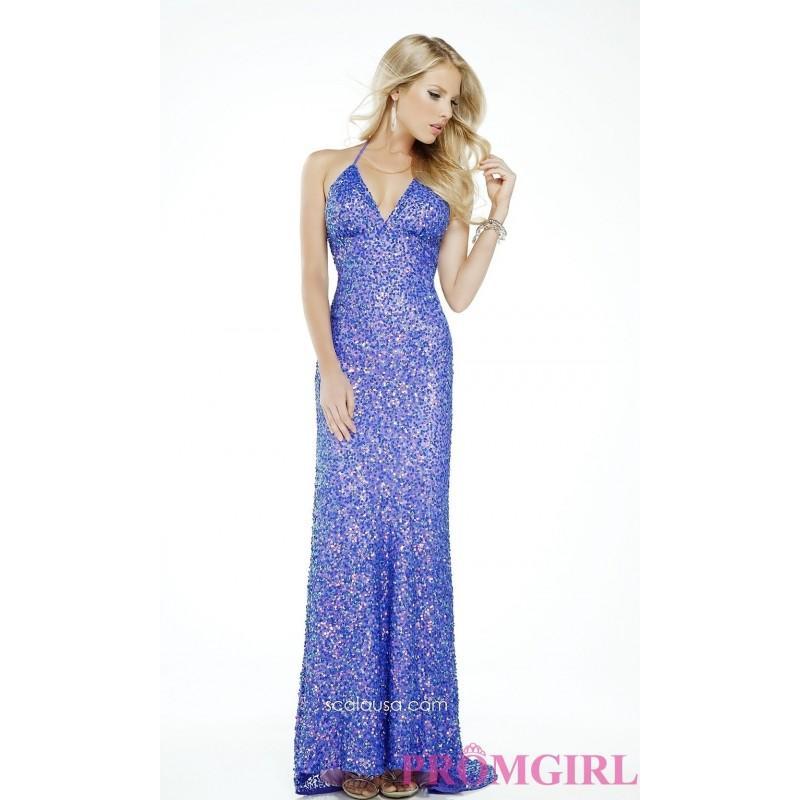 Wedding - Floor Length V-neck Sequin Dress - Brand Prom Dresses