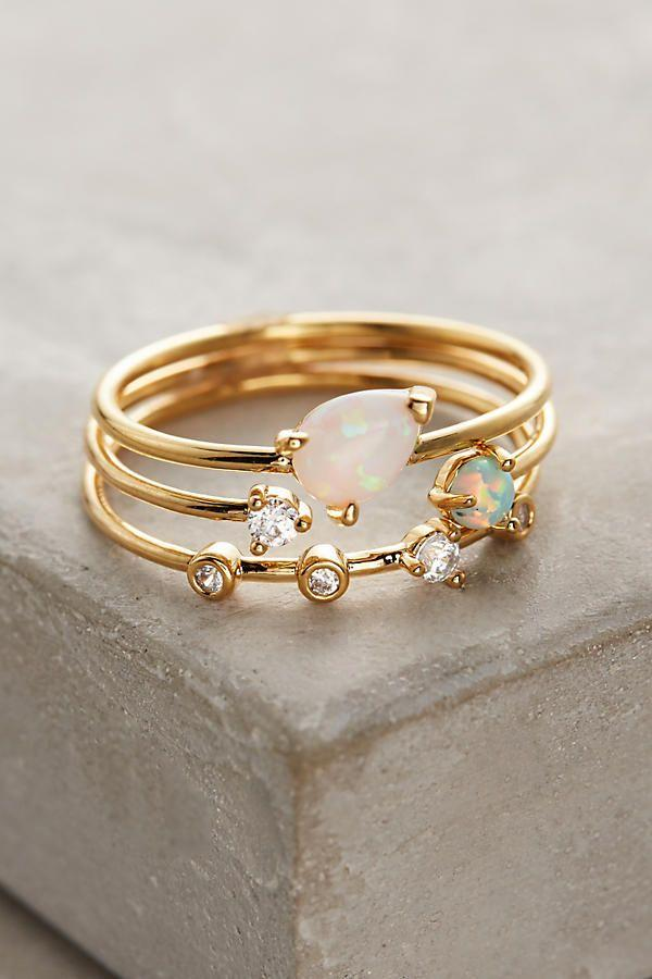 Свадьба - Opalescent Stacking Rings