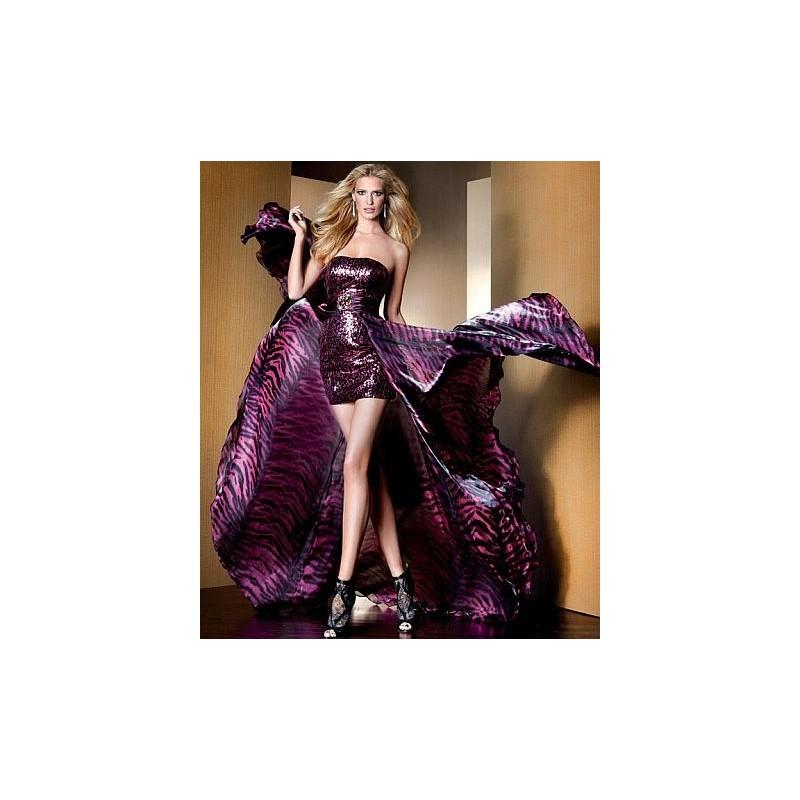Свадьба - Claudine for Alyce Short Sequin Prom Dress with Removable Skirt 2086 - Brand Prom Dresses