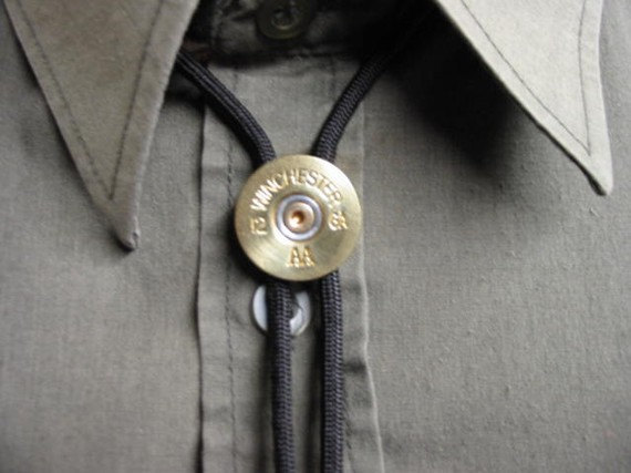 Mariage - Bolo Tie for Men Brass Winchester Shotgun Shell 12 Gauge