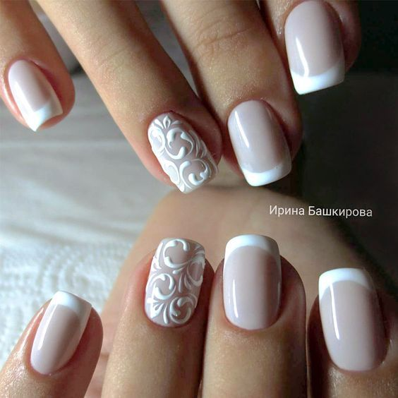 Nagel French Nail Art 2787490 Weddbook