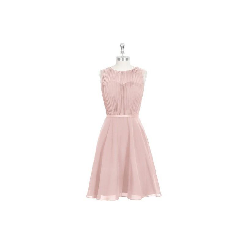Wedding - Dusty_rose Azazie Mariam - Knee Length Scoop Chiffon And Charmeuse Illusion Dress - Cheap Gorgeous Bridesmaids Store