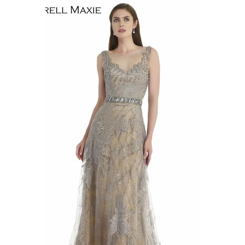 Hochzeit - Grey Net Embroidered Lace Gown by Morrell Maxie - Color Your Classy Wardrobe