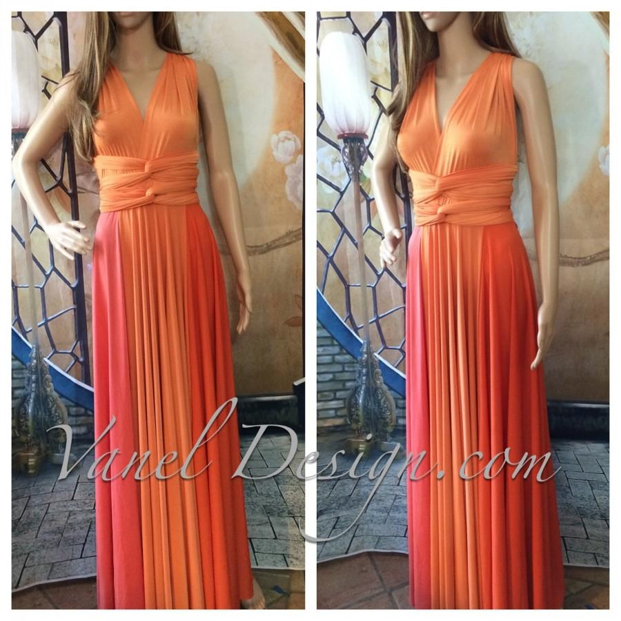 Boda - CORAL Infinity Dress, Bridesmaids Dresses, Wrap Dresses, Convertible dresses, 3 colors infinity dress
