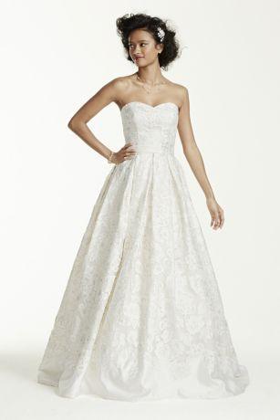 127f9b375085 Oleg Cassini Laser Cut Organza Wedding Dress Style CWG631 #2787716 ...