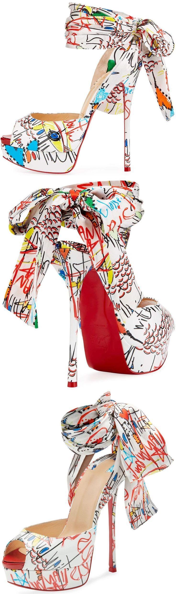 Wedding - Jersey Loubitag Platform Red Sole Sandal