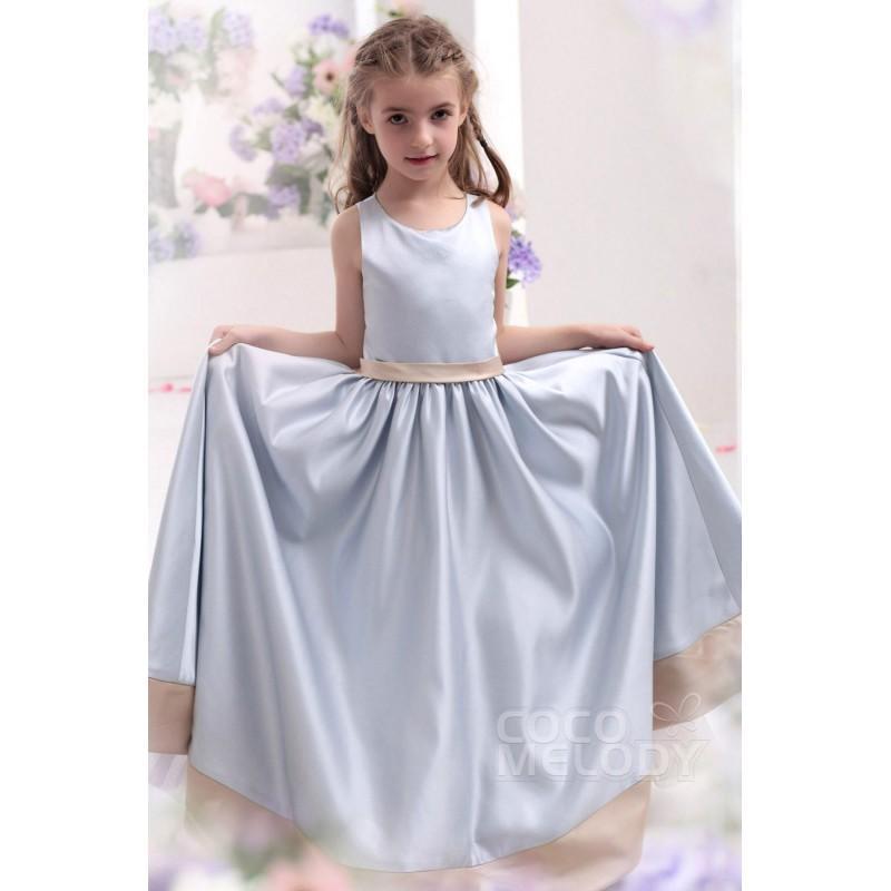 Hochzeit - Perfect A Line Tank Top Floor Length Satin Girls Christmas Dress CKZF13004 - Top Designer Wedding Online-Shop