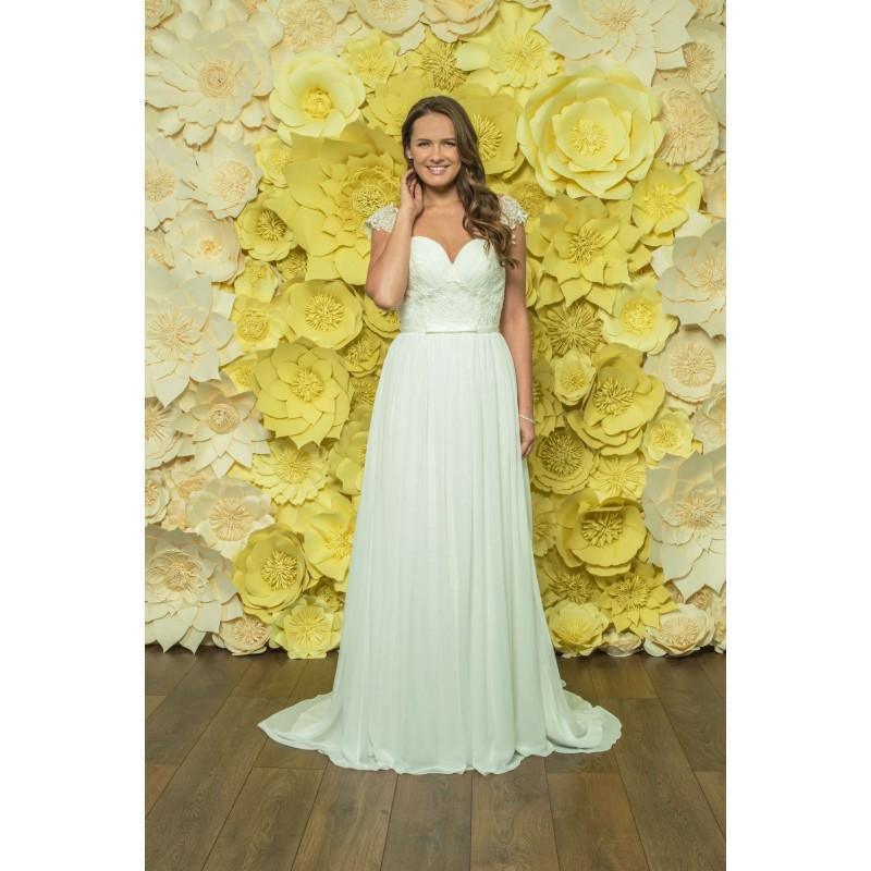 Style D050 By Daisy Alexia Ivory White Chiffon Lace Illusion Back Floor Sweetheart Column Ced Wedding Dresses Bridesmaid Dress Online