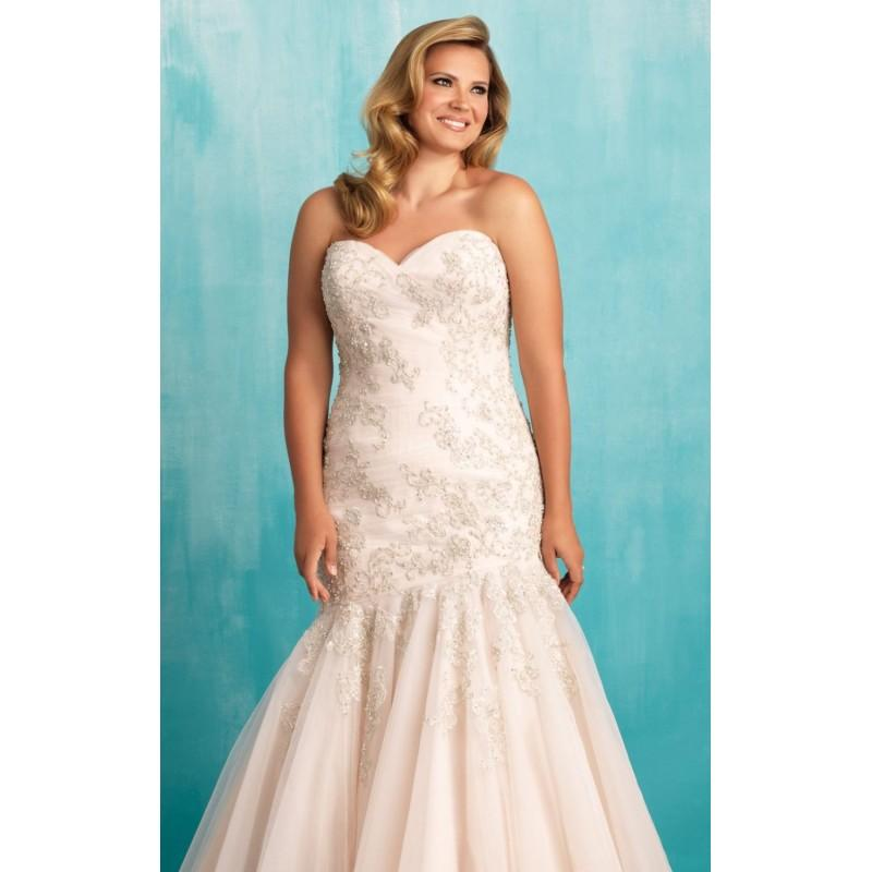 English Net Mermaid Gown By Allure Bridals - Color Your Classy ...