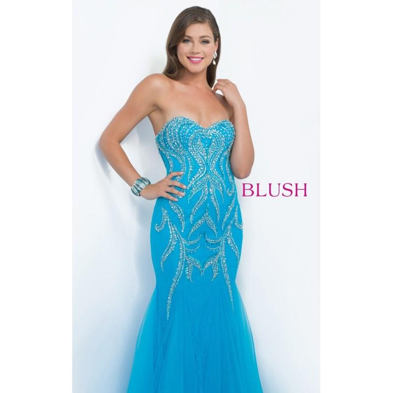 Wedding - Pool Strapless Mermaid Gown by Blush by Alexia - Color Your Classy Wardrobe