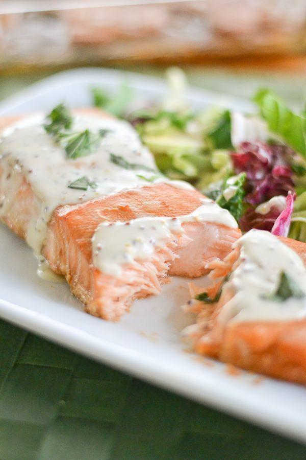 Mariage - Salmon With Creole Mustard Sauce