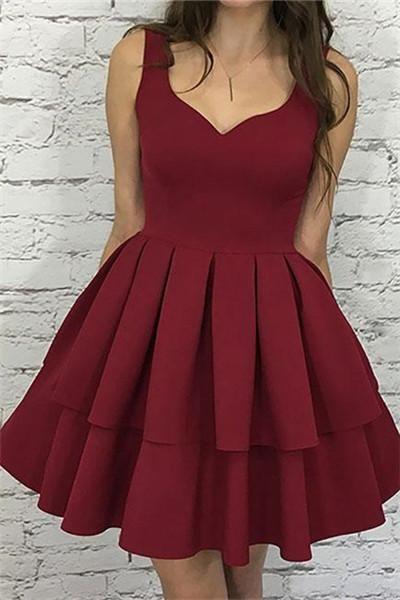 Свадьба - Cute Homecoming Dress,burgundy Homecoming Dress,short Prom Dress