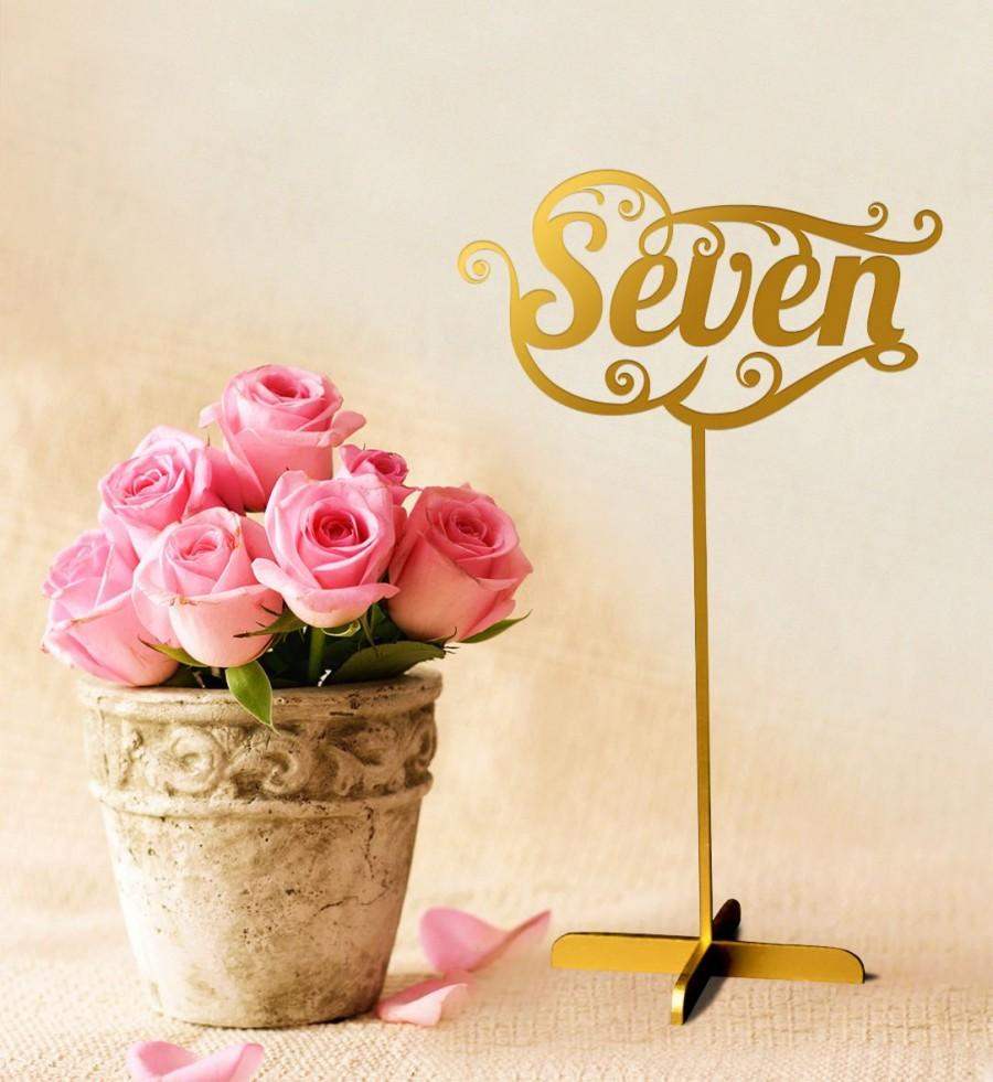 Mariage - Sale 5 Gold Table Numbers.Sale  Gold Table Numbers With Base.Wedding  Numbers.