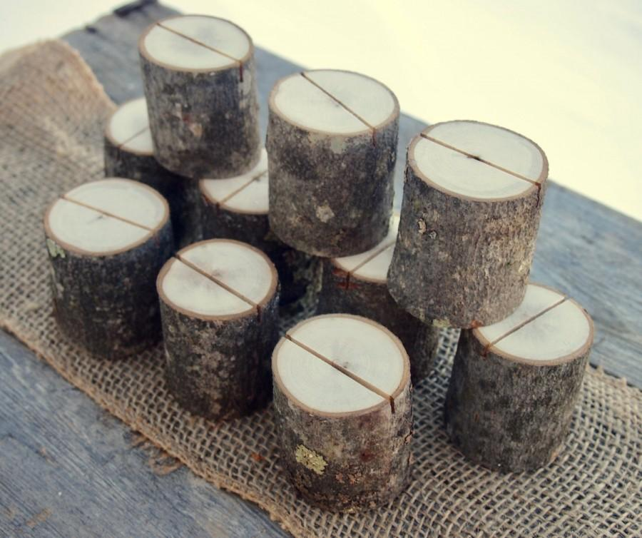 10 Rustic Place Card Holders Natural Wedding Table Decor Table