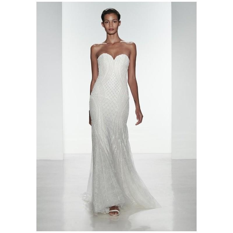 Wedding - Kenneth Pool K471/ Andrea - Mermaid Sweetheart Natural Floor Chapel Lace Beading Matching Veil - Formal Bridesmaid Dresses 2017