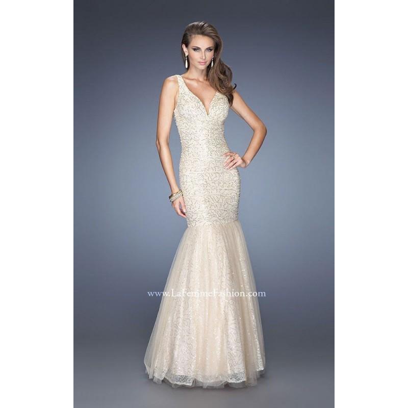 Wedding - Gold Gigi 20381 - Mermaid Open Back Dress - Customize Your Prom Dress