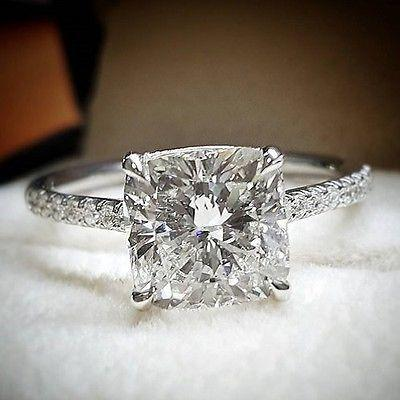 Wedding - Gorgeous 1.60 Ct. Cushion Cut Diamond Engagement Ring Set G, VS2 GIA