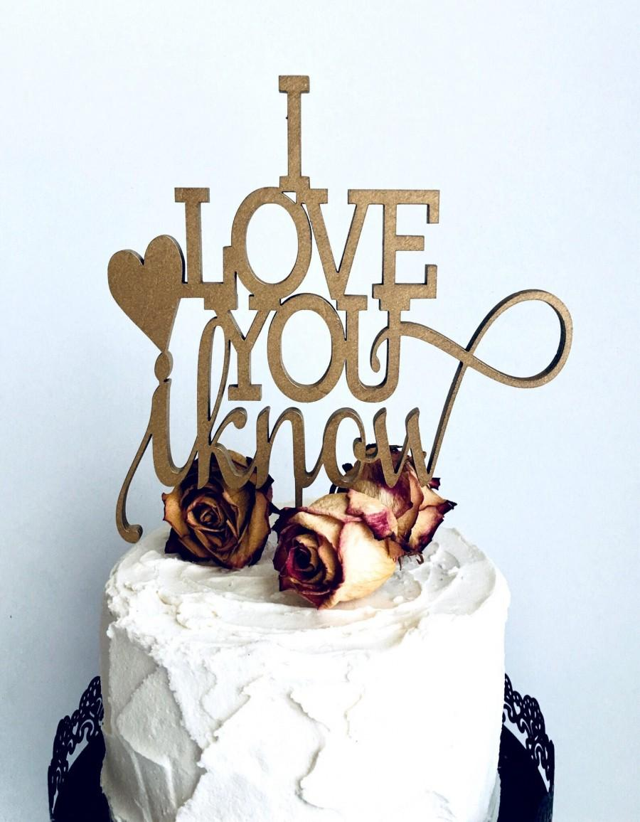 Star wars wedding cake toppers gold wedding cake topper i love star wars wedding cake toppers gold wedding cake topper i love you i know 110018 junglespirit Images