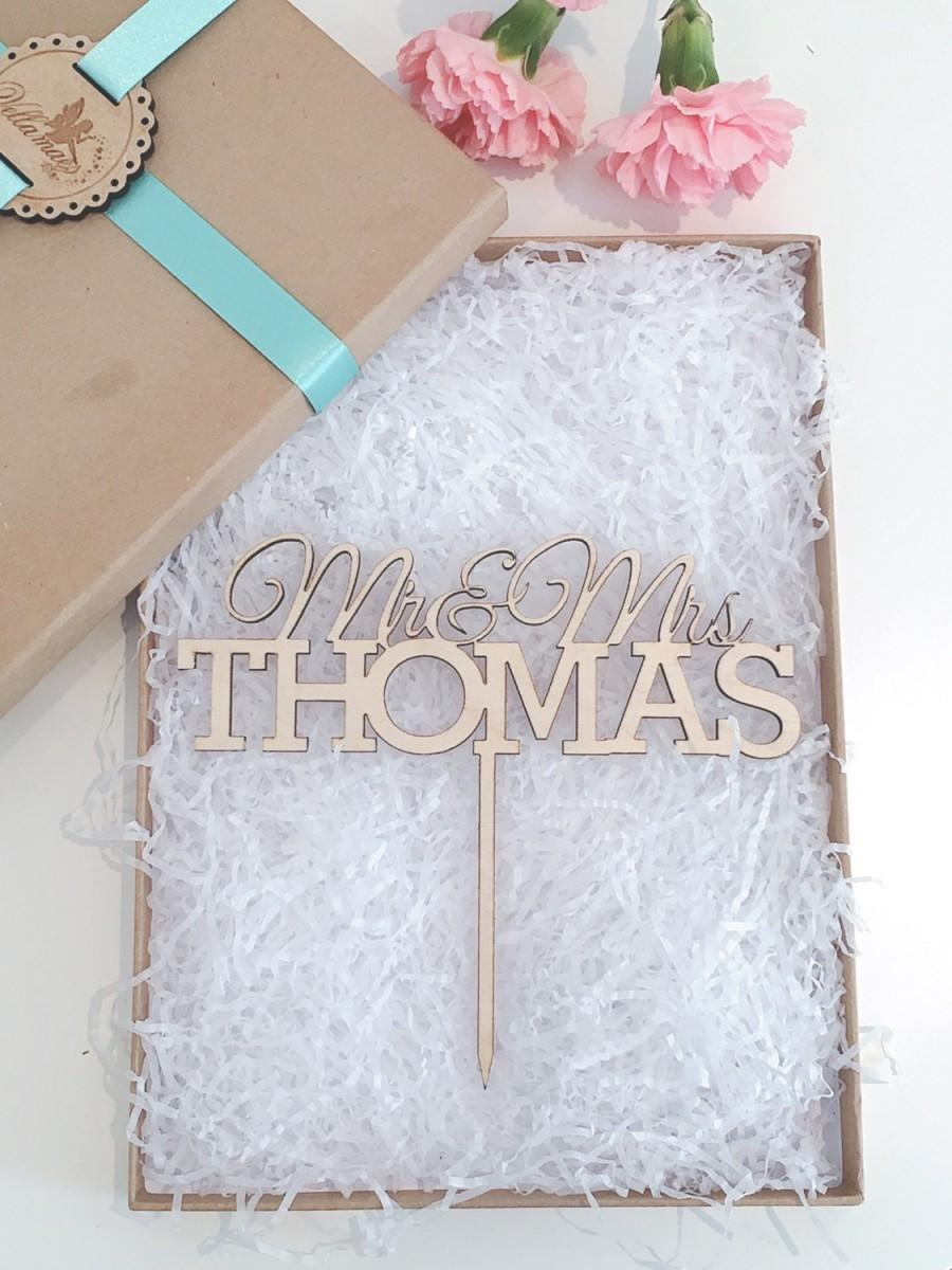 Mariage - Personalised Wedding Cake Topper, Wooden Cake Topper, Glitter Cake Topper, Rustic Cake Topper, Various Colours