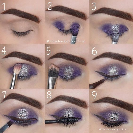 Mariage - Purple Sparkly Makeup