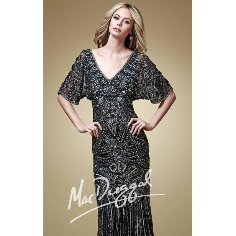 Wedding - Embellished V Neckline Gown by Mac Duggal Couture 1648D - Bonny Evening Dresses Online