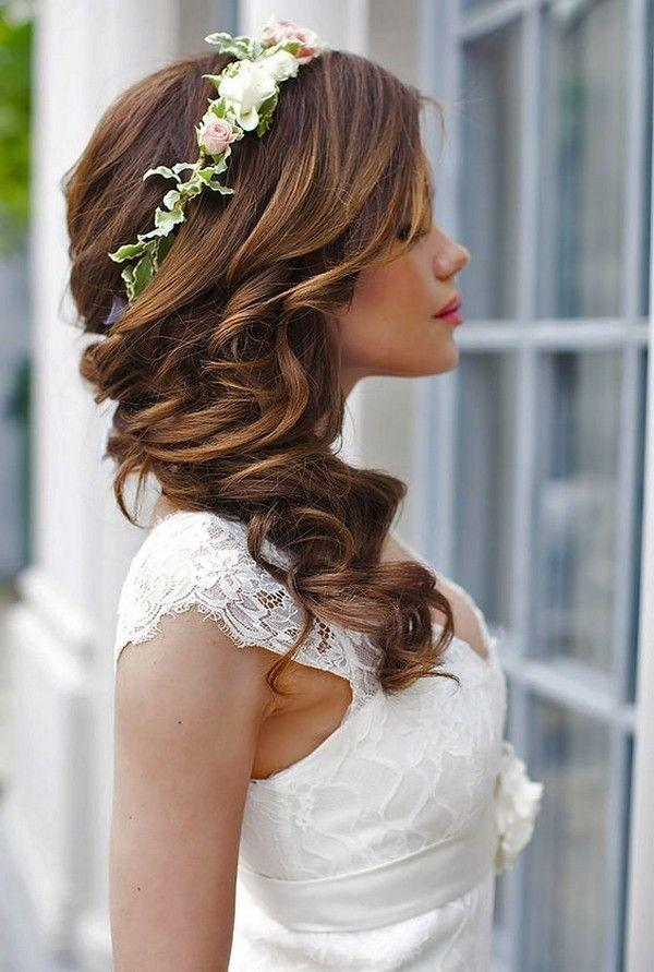 18 Gorgeous Wedding Hairstyles With Flower Crown - Page 3 Of 3 ...