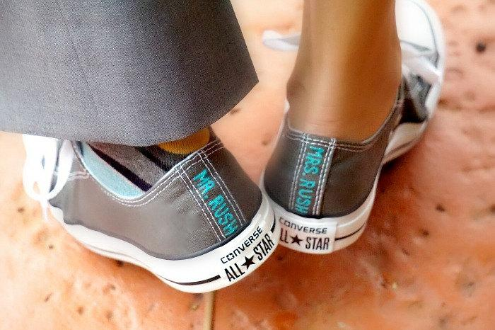 41220e997f3cfe Bride and Groom s Wedding Converse Hand Painted Wedding Shoes Name Date  Classic colors Custom Wedding Shoes Converse Baltimore