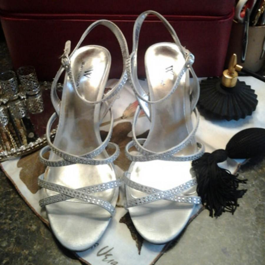 Bridal-Bride-Bridesmaids-Prom Formal Bling Worthington Heels/Pumps