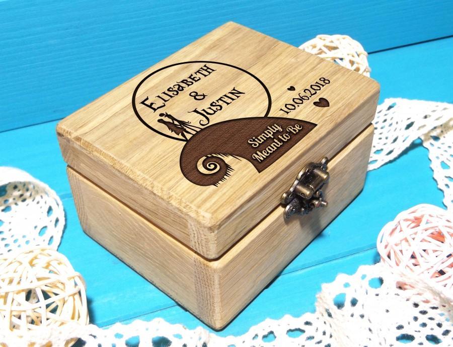 Hochzeit - Wedding Ring Box-Wedding Ring Pillow-Ring Bearer Pillow-Wooden Wedding Ring Box-Nightmare Before Christmas Wedding-Jack and Sally Ring Box