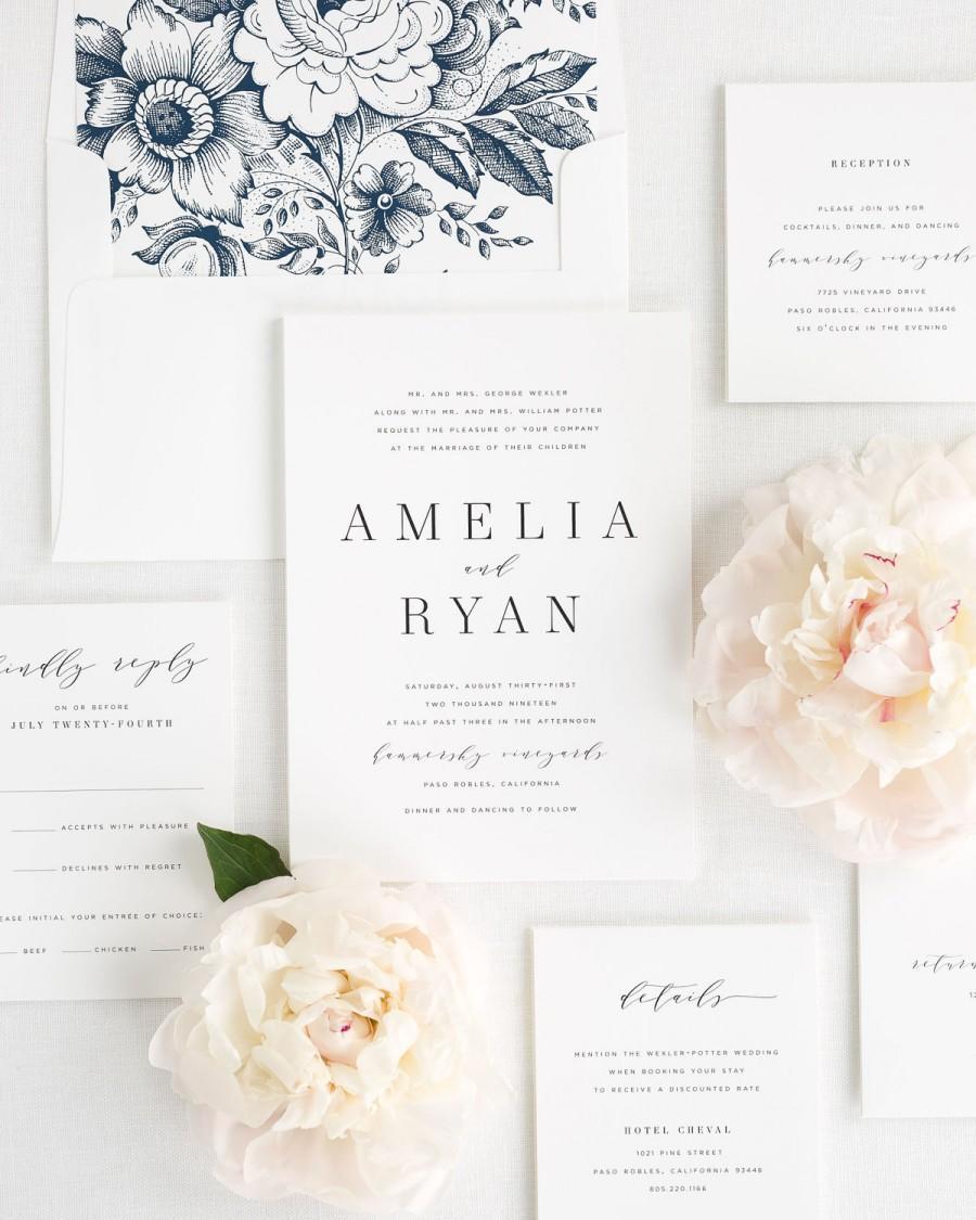 invitation amelia wedding invitations sample 2790379 weddbook