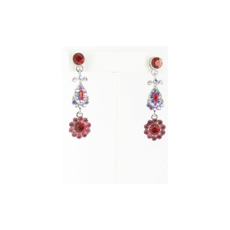 Hochzeit - Helens Heart Earrings JE-X002738-S-Red Helen's Heart Earrings - Rich Your Wedding Day
