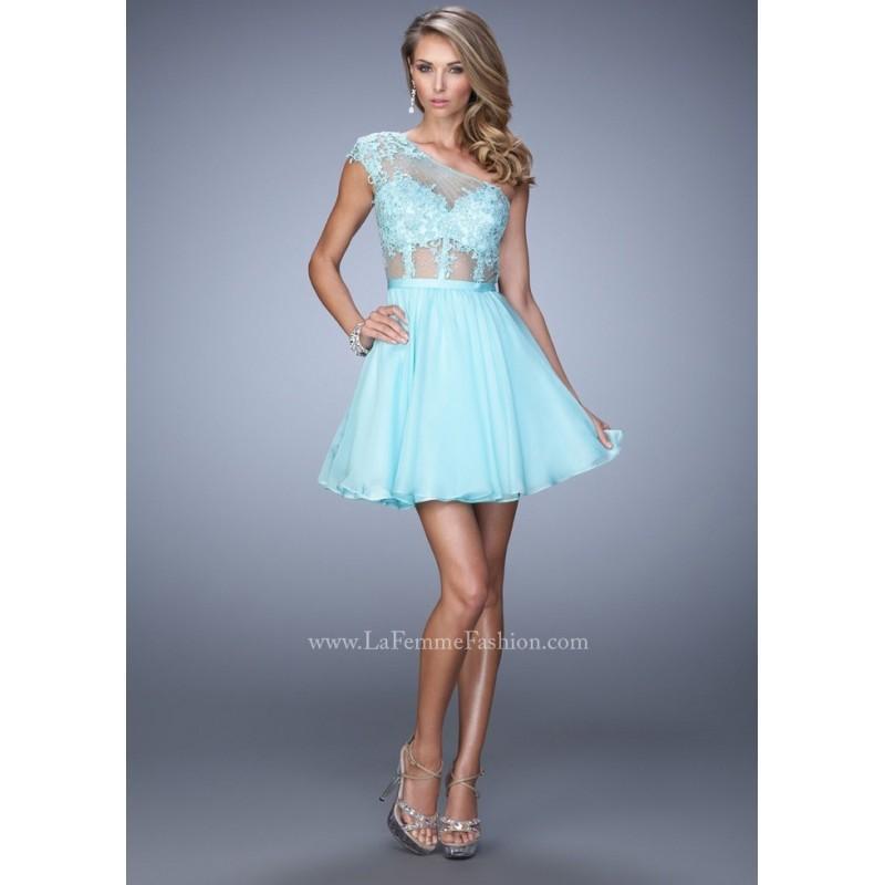 Свадьба - La Femme 21992 One Shoulder Party Dress - 2017 Spring Trends Dresses