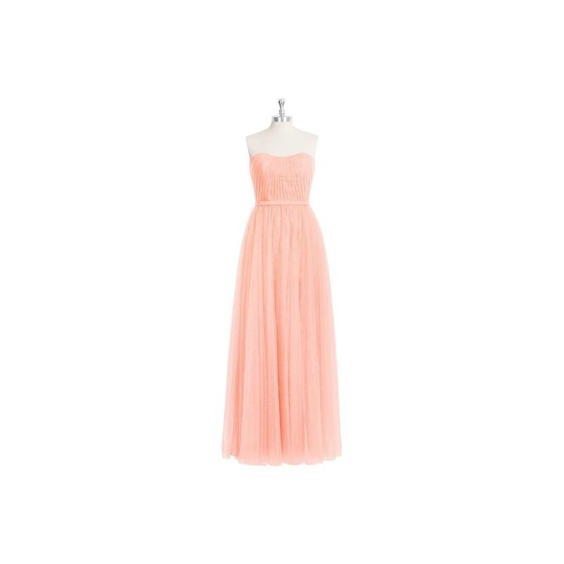 Свадьба - Coral Azazie Kayley - Sweetheart Tulle, Lace And Chiffon Back Zip Floor Length Dress - Charming Bridesmaids Store