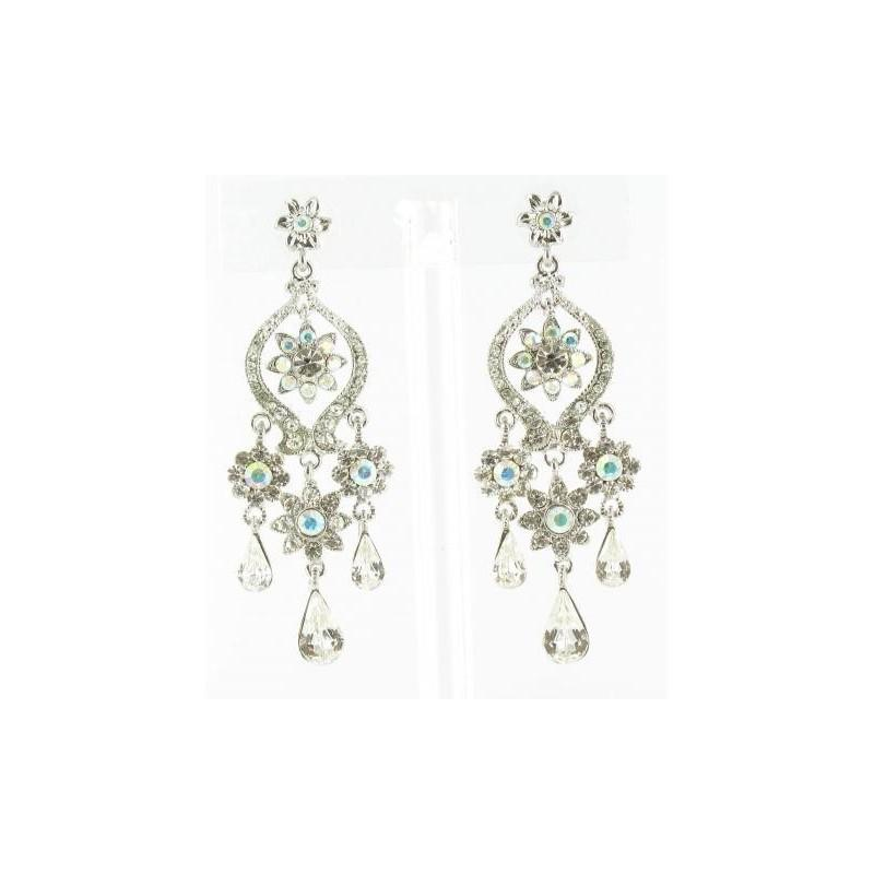 زفاف - Helens Heart Earrings JE-X002935-S-AB Helen's Heart Earrings - Rich Your Wedding Day