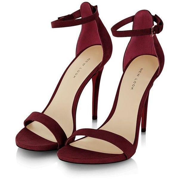 Hochzeit - Dark Red Suede Ankle Strap Heels And Other Apparel, Accessories And Trends. Brow