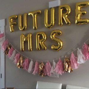 16 inch gold foil mylar letter balloons
