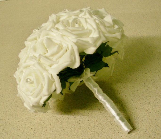 Hochzeit - Artificial Wedding Flower Girl Posy