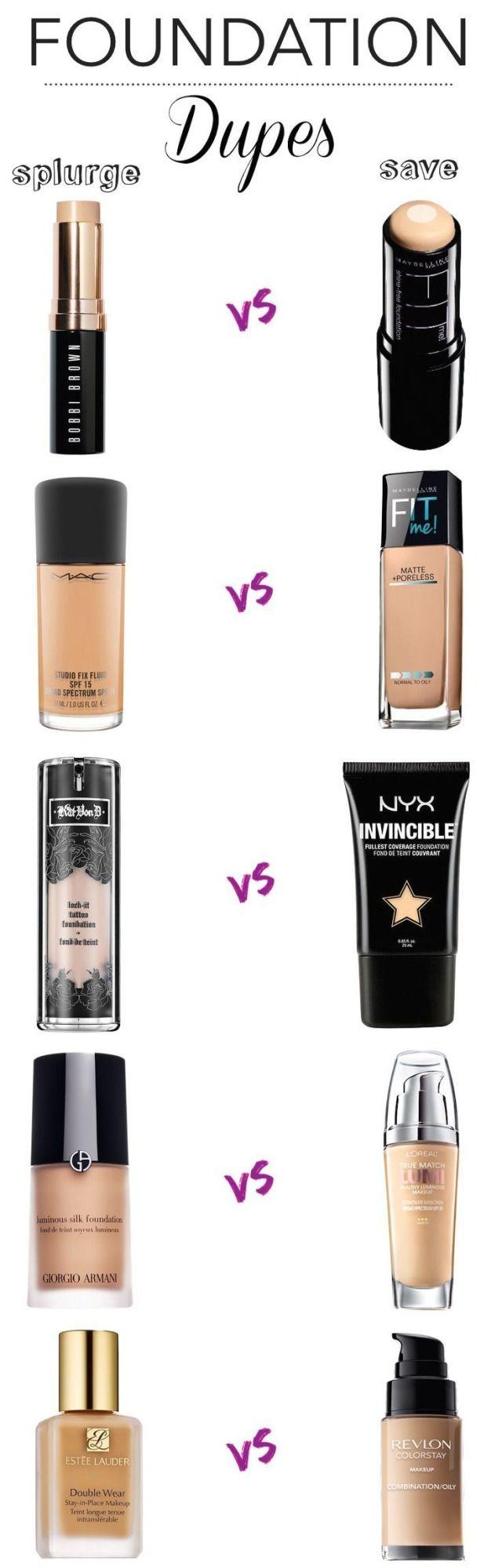 Wedding - High End Foundation Dupes