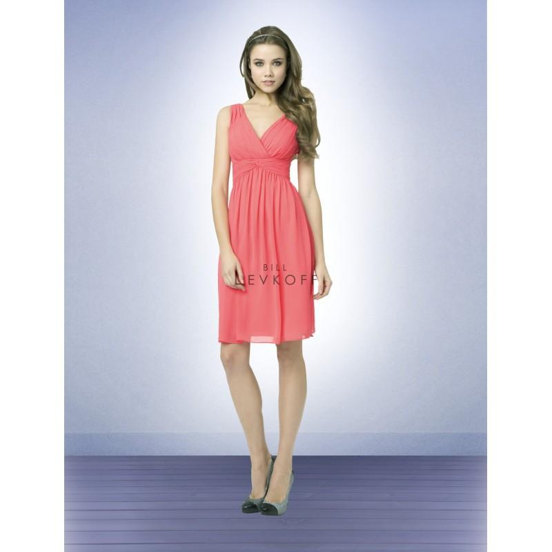 Wedding - Bill Levkoff 760 Chiffon V-Neckline Short Bridesmaid Dress - Crazy Sale Bridal Dresses