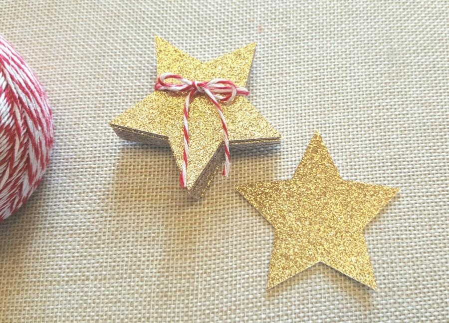 twinkle stars 4in gold glitter star die cuts glitter gold star die