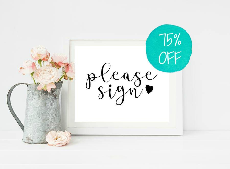 Wedding - Please Sign, Please Sign Our, Wedding Sign, Wedding Signs, Reception Sign, Guest book Sign, Guestbook Sign, Wedding Decor, Wedding Printable
