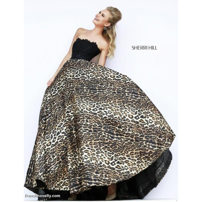 Wedding - Sherri Hill 32100 Leopard Print Gown - Brand Prom Dresses
