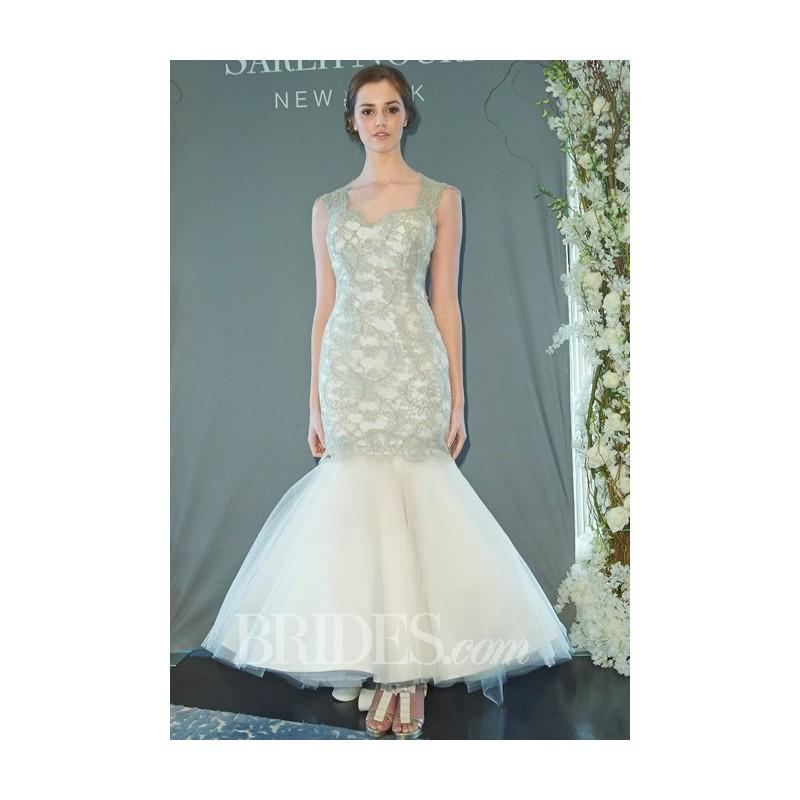 Wedding - Sareh Nouri - Fall 2014 - Liza Lace Trumpet Wedding Dress with Detachable Tulle Skirt - Stunning Cheap Wedding Dresses