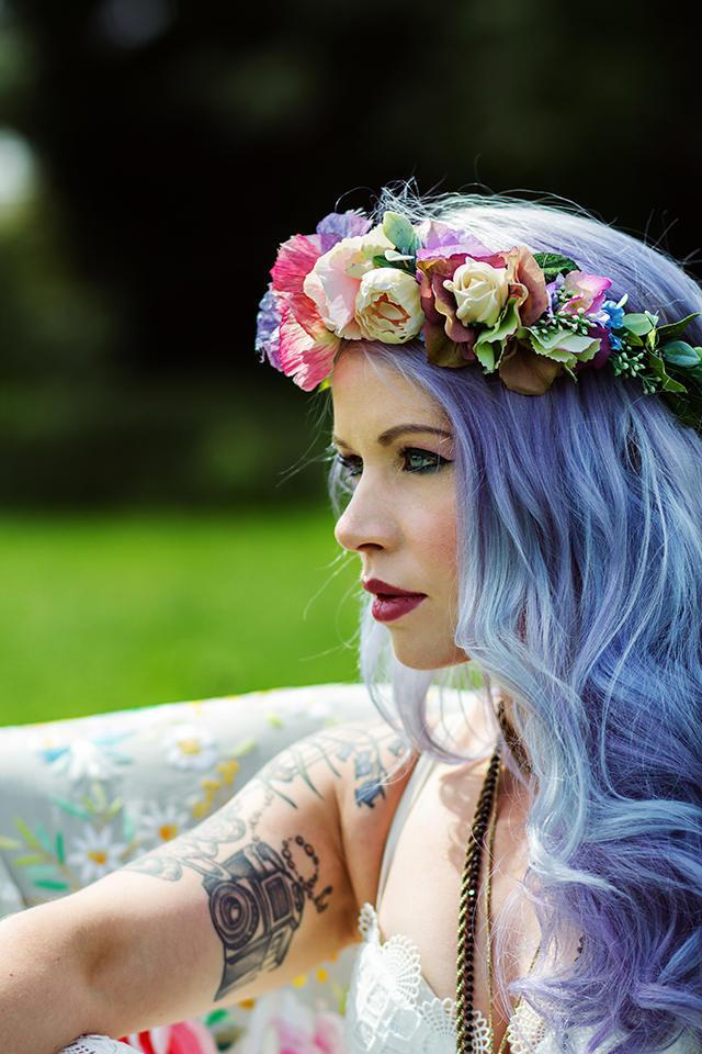 Mariage - Festival crown, mermaid crown, festival headband, coachella, festival fashion, festival accessories, flower crown, festival wedding