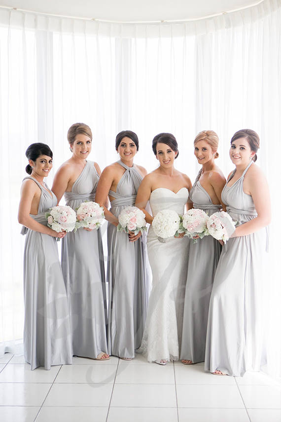 Bridesmaid Dress Light Grey Silver Maxi Floor Length Infinity Prom Multiway Convertible Maternity