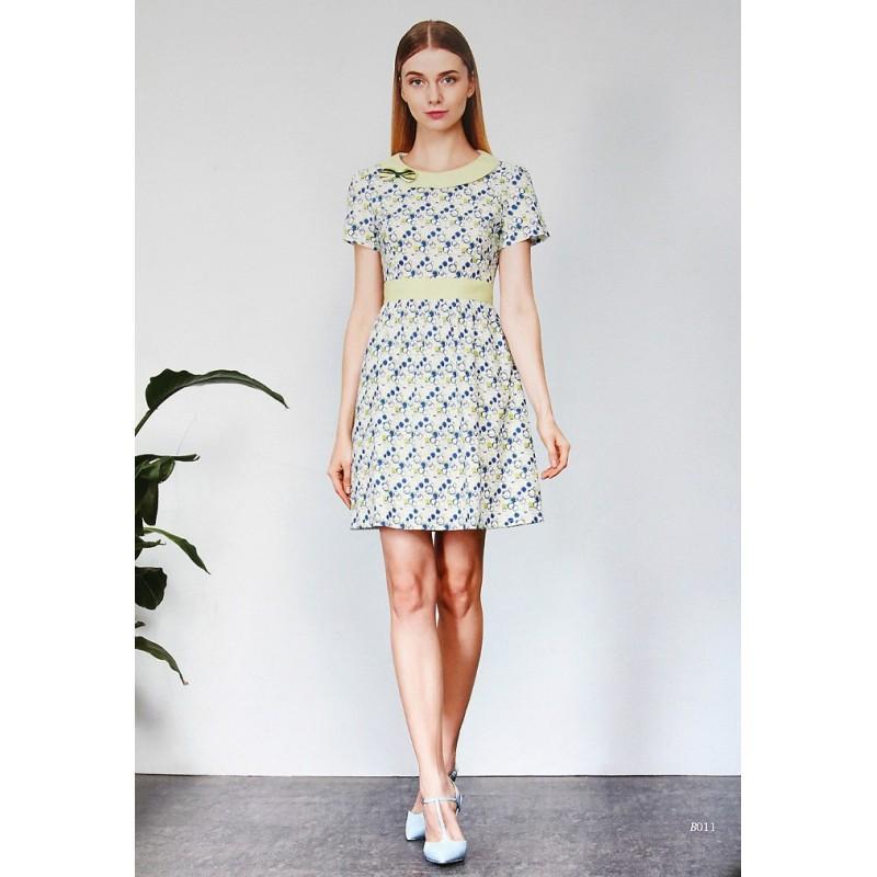 Wedding - Sweet Fresh Slimming Cotton Geometry Dress - Lafannie Fashion Shop