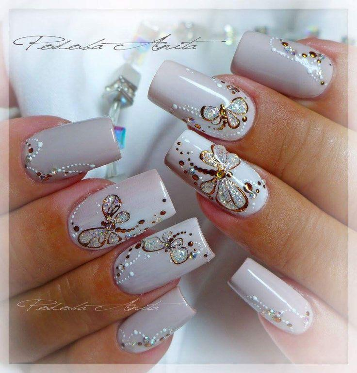 Wedding - Butterfly Nails
