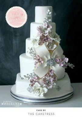 Wedding - Bow Wedding Cake